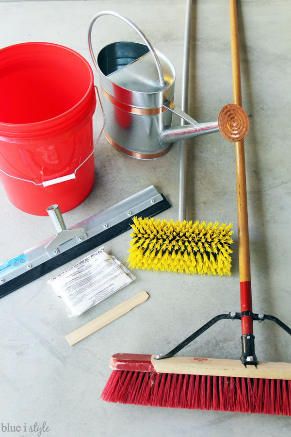 Garage floor prep supplies