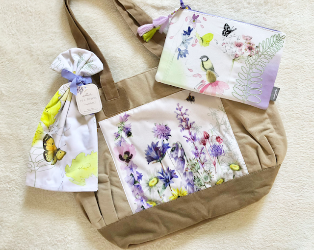 Hallmark Marjolein Bastin Bird, Butterfly and Floral Tea Towel, Accessory Bag and Garden Bag #LoveHallmarkCA