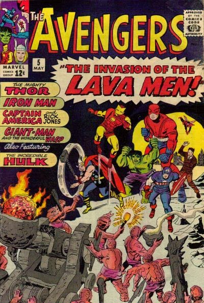 Avengers #5, the lava men