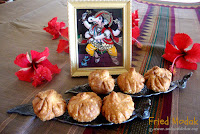 images of Fried Modak Recipe /Fried Modak For Ganesha Chathurthi / Fried Mothagam Recipe / Maharashtrian Fried Modak Recipe