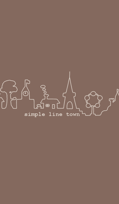 simple line town -coffee-