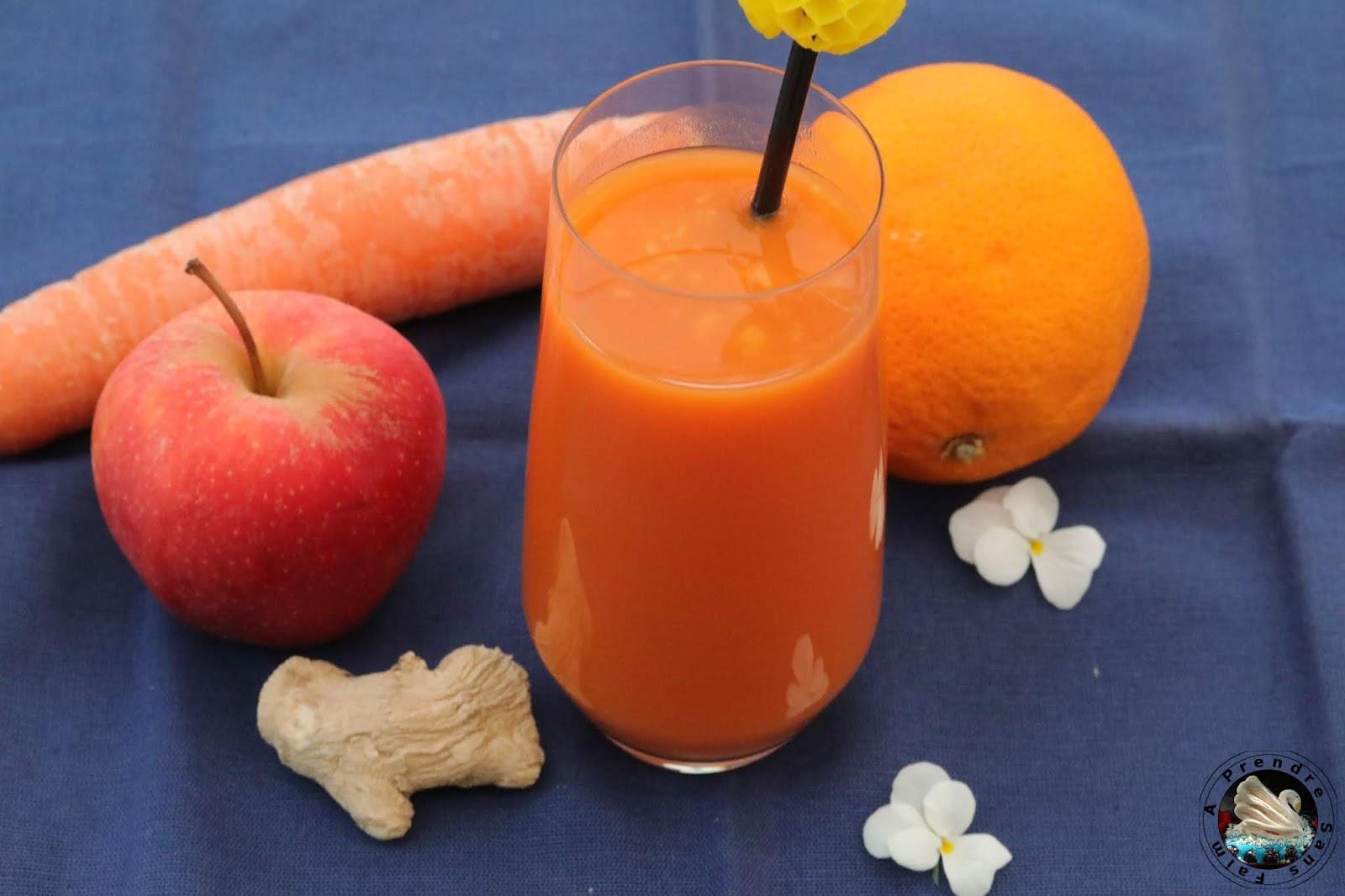 Détox carotte pomme orange