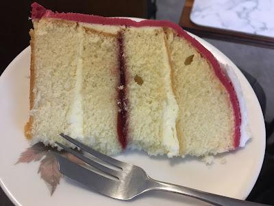 Christmas Postbox Cake Marks & Spencer sliced