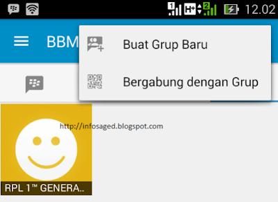 cara membuat group bbm android
