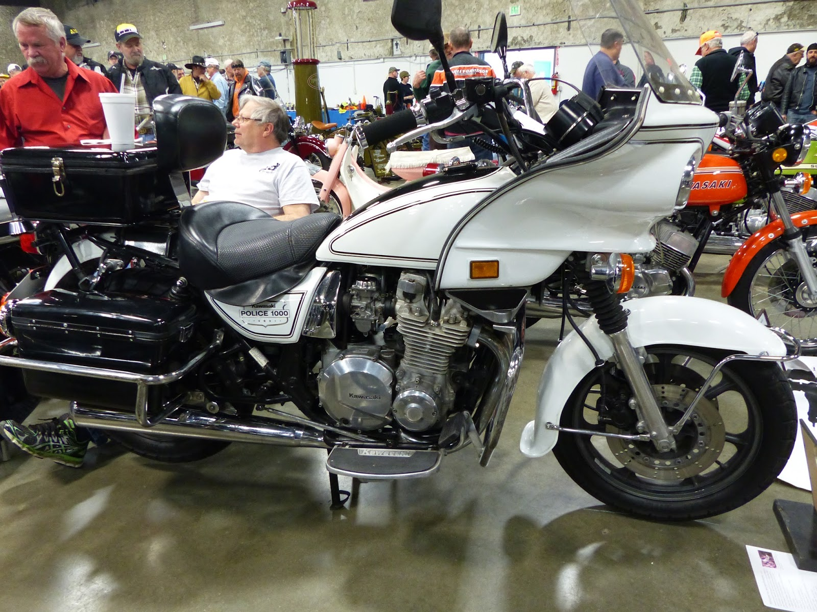 OldMotoDude: Kawasaki KZ1000 Police Bike on display at the