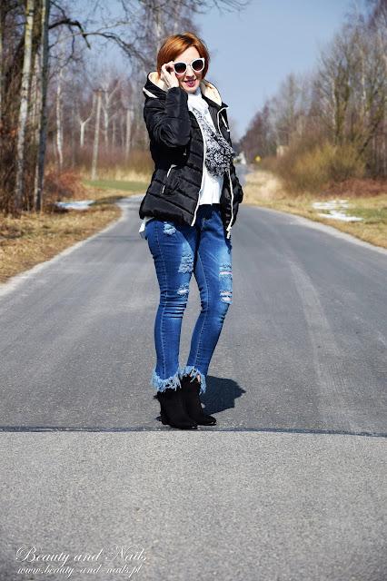 ROSEGAL | czarna kurteczka i biała koszula.
