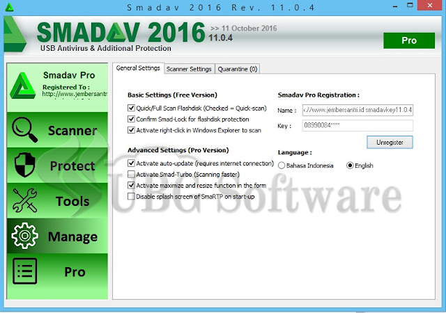 Smadav Pro Rev.11.0.4 Full Version Terbaru - UBG Software