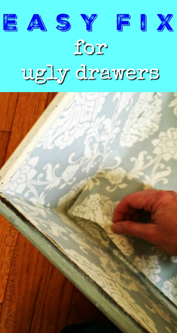 Try this easy fix for sprucing up ugly drawers.