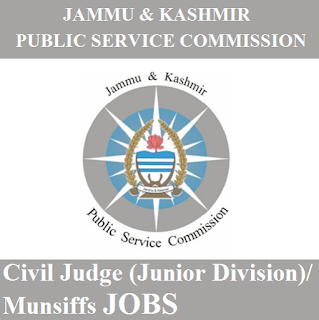 Jammu and Kashmir Public Service Commission, JKPSC, J&K, PSC, Jammu & Kashmir, civil judge, Munsiff, Graduation, freejobalert, Sarkari Naukri, Latest Jobs, jkpsc logo