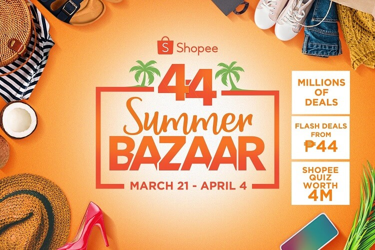 Shopee Announces 4.4 Summer Bazaar