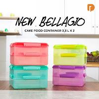 Dusdusan New Bellagio Cake Food Container 3.3 L X 2 (Set of 4) ANDHIMIND