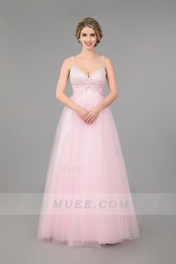 Tulle maxi prom dress
