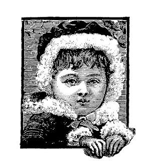 girl vintage winter image