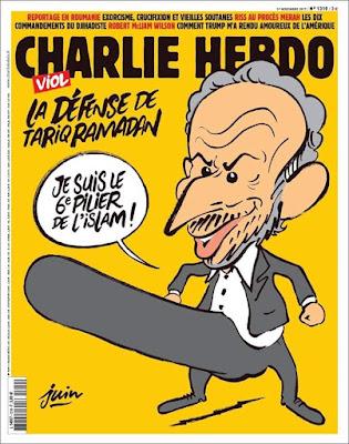 Une de Charlie Hebdo sur Tariq Ramadan