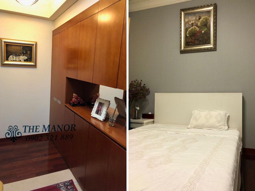 3 phòng ngủ cho thuê The Manor căn hộ 163m2 nội thất đẹp - giường ngủ