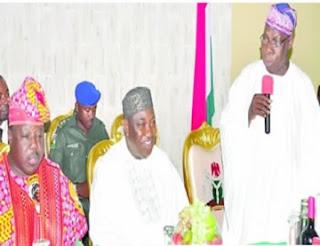 Obasanjo and ali modu sheriff at enugu