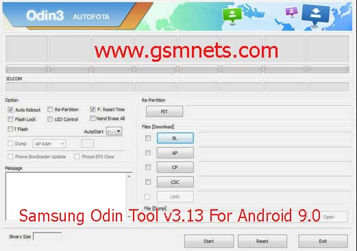 Samsung Odin Tool v3.13 Latest Android 9.0 Download
