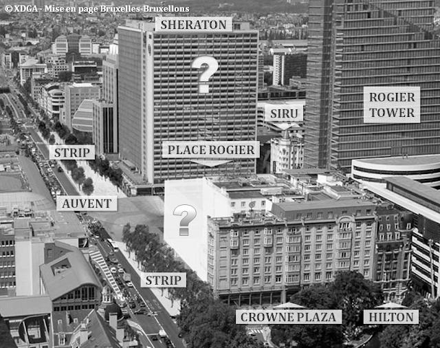 """Place Rogier - Boulevard du Jardin Botanique - Fin des travaux de réaménagement - Future rénovation de la """"Tour Sheraton"""" - Future extension de l""""hôtel """"Crowne Plaza"""" - Bruxelles-Bruxellons"""