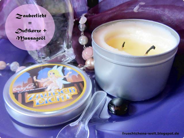 Dildofee Massageöl und Duftkerze