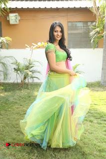 Actress Nikitha Bisht Stills in Lehenga Choli at Pochampally Ikat Art Mela Launch  0366.JPG