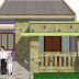 Contoh Denah rumah minimalis dan Gambar Rumah Minimalis ukuran 7 x 4
