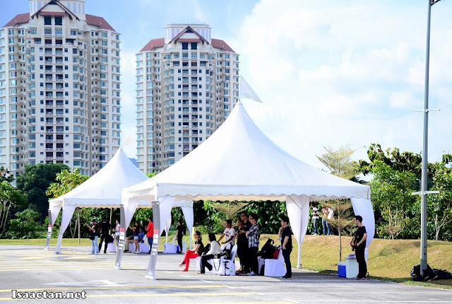 There were tents set up by Honda Malaysia at every test checkpoint for our comfort