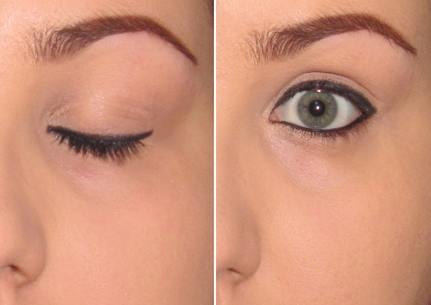 d6139753bc6 Line your eyes on both lids using whatever eyeliner you use. I initially  use my pencil (Rimmel London Soft Kohl Pencil in 061 Jet Black) and then  reline in ...