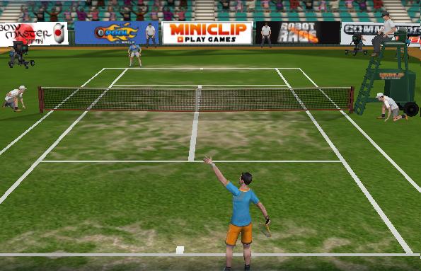 لعبة بطولة التنس المجسمة Tennis 3D GAME اون لاين