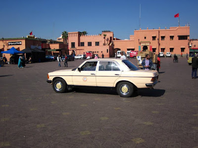Grand Taxi Mercedes en Marrakech