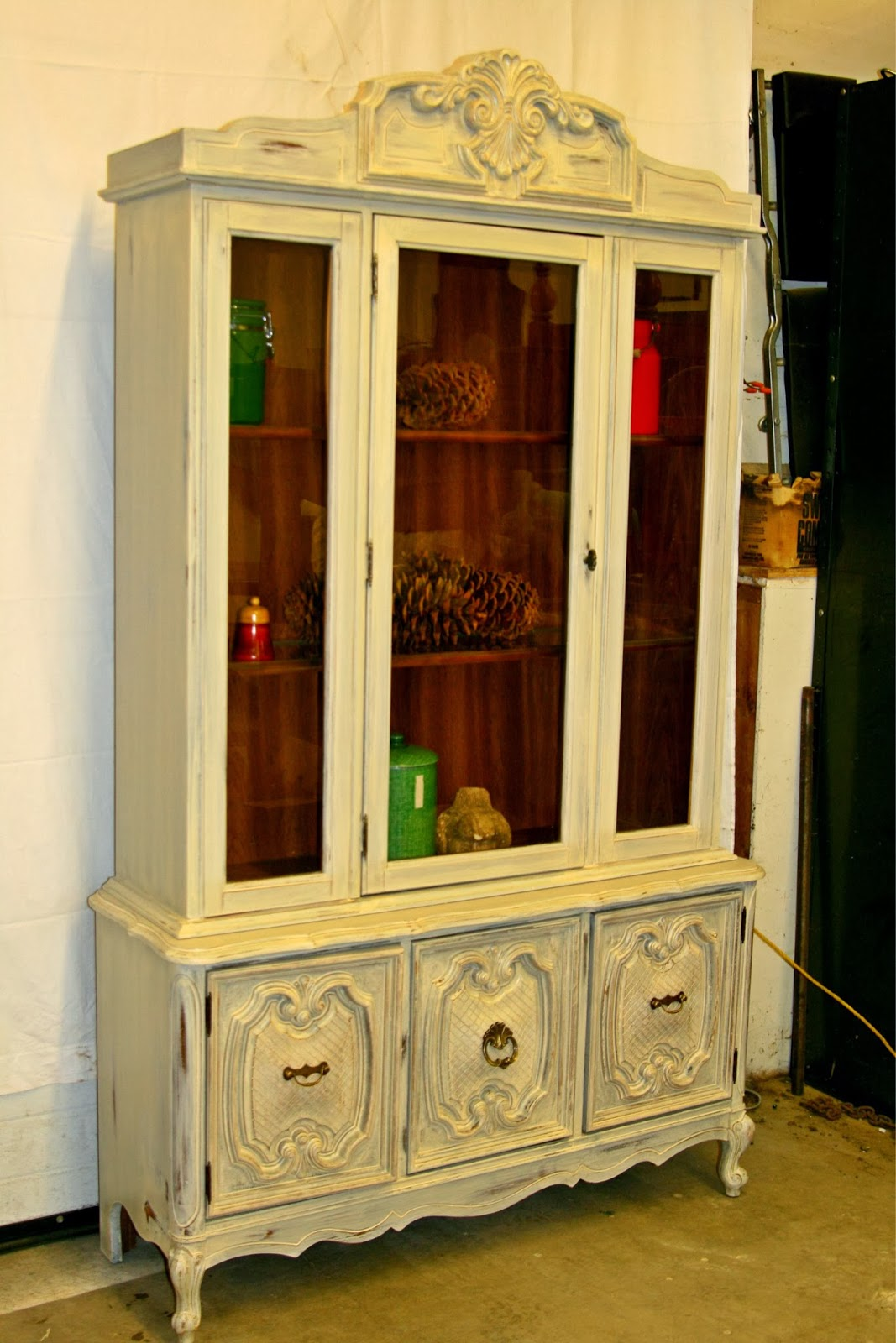 Laurel S Attic Warm White China Cabinet Sold