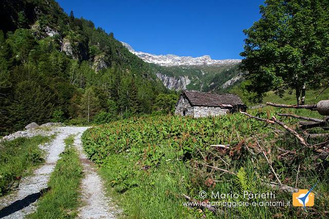Cascina nel tratto iniziale della mulattiera verso alpe Porcaresc