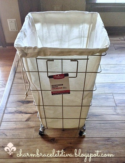 Very best Our Hopeful Home: French Wire Laundry Hamper For Less CU34