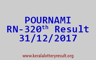 POURNAMI Lottery RN 320 Results 31-12-2017