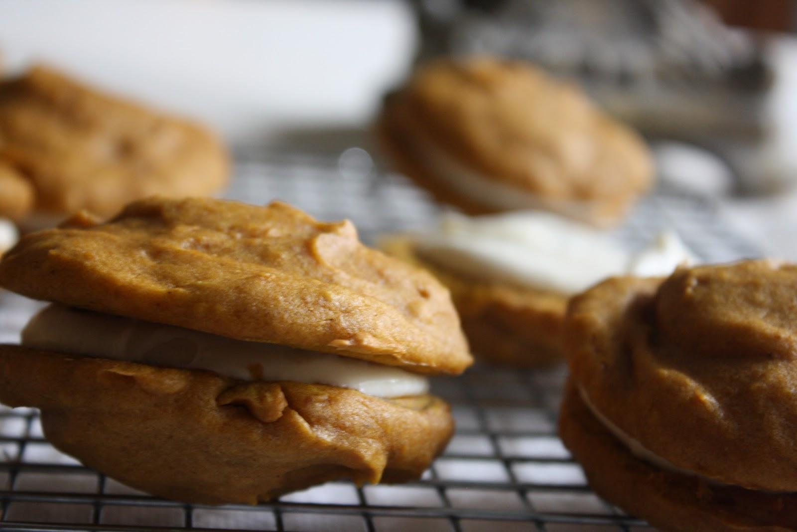 A Dusting of Sugar: Secret Recipe Club - Pumpkin Whoopie Pies +