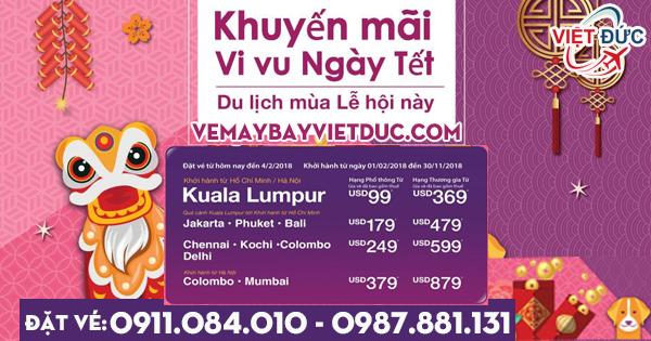 vé khuyến mãi ngày tết Malindo Air du lịch mùa lễ hội từ 99 usd