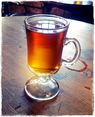 glass of mulled cider
