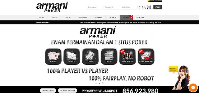 ArmaniPoker - Agen Situs Ceme Terpercaya