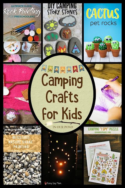 Crafts for Camping // In Our Pond // Camping is just another excuse to do some crafting!  Whether you're an adult who likes to DIY things for kids or a kid who wants to make something nature-themed at camp- we've got you covered.