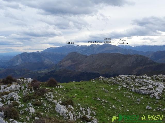 Sierra de la Cueva Negra: Desde el Alto Teyadera, vista del Cuera
