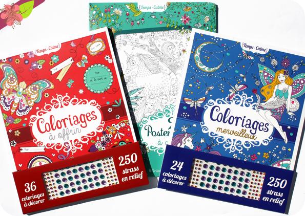 Coloriages à offrir, coloriages merveilleux et deux posters géants à colorier - Gründ