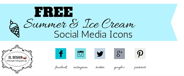 free social media icons summer and ice cream