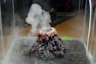 wulkan w terrarium