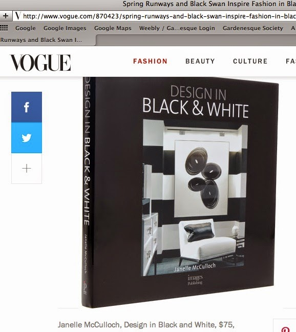 DESIGN IN BLACK & WHITE IN US VOGUE