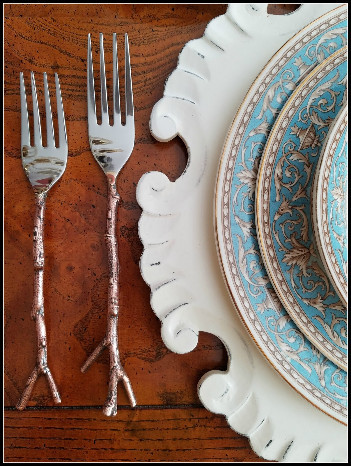 Panoply england crown ducal 39 atlanta 39 autumn tablescape - Twig silverware ...