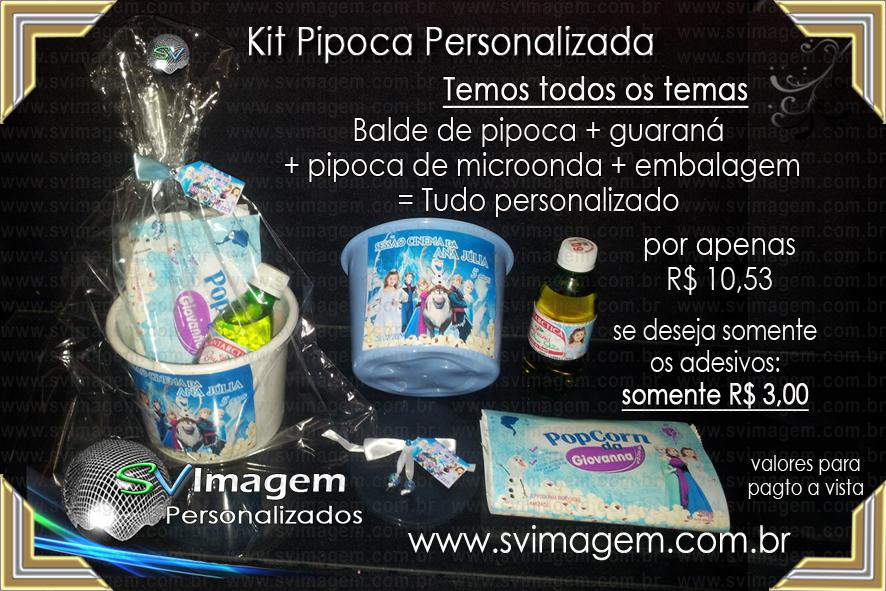 59651a8b7 KIt Balde de Pipoca Personalizado para lembrancinha de festa infantil
