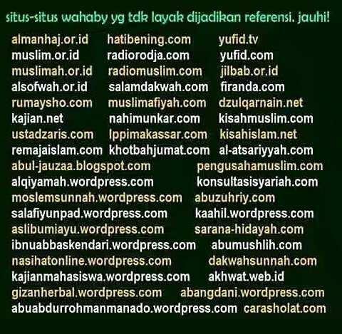 Daftar situs Wahabi dan HTI