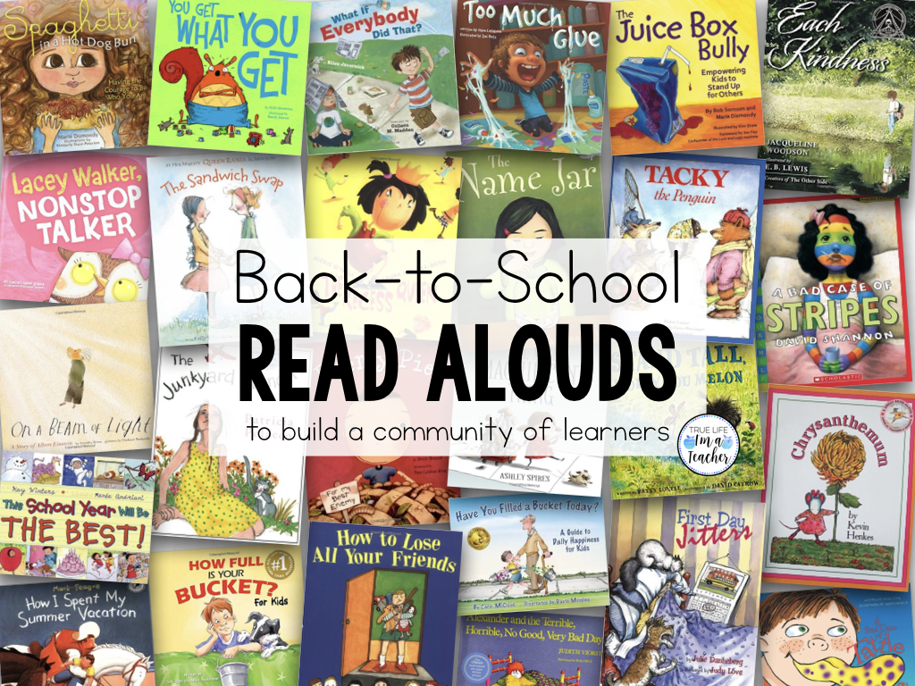 Books and read alouds to help teach students kindness, growth mindset, friendship, rules, routines, and expectations. Great for building a community in your classroom.