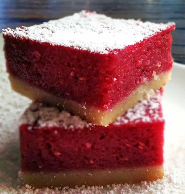 Raspberry Lemon Bars. Fruity and amazingly mouthwatering.