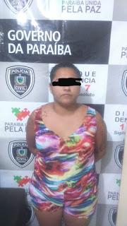 Policia civil prende em Picui, mulher acusada de trafico de drogas e estoura boca de fumo