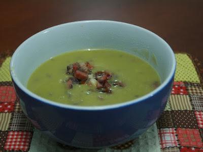 creme sopa ervilha bacon receita receitas recetas recipes
